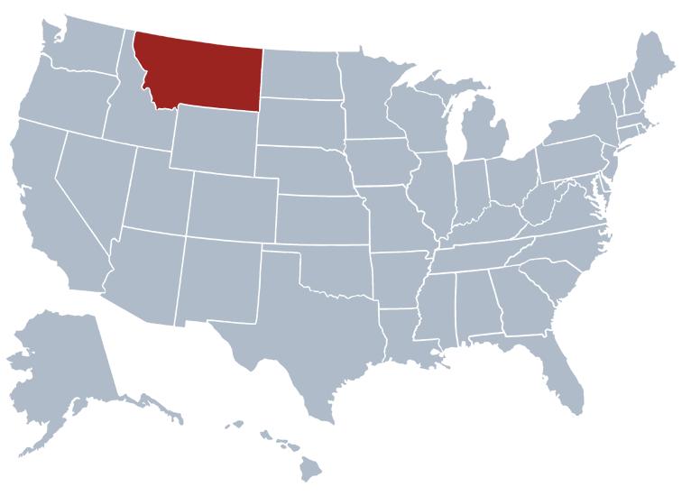 Rates Truckquote - Montana map us